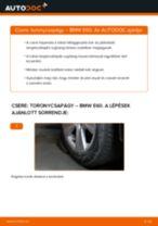 Hátsó toronycsapágy-csere BMW E60 gépkocsin – Útmutató