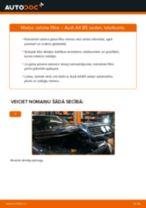 Kā nomainīt: salona gaisa filtru Audi A4 B5 sedan - nomaiņas ceļvedis