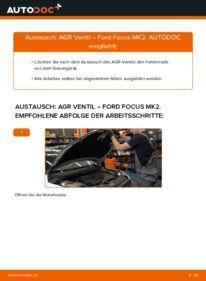 Wie der Wechsel durchführt wird: AGR Ventil 1.6 TDCi Ford Focus mk2 Limousine tauschen