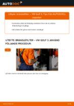 Byta bränslefilter på VW Golf 3 bensin – utbytesguide