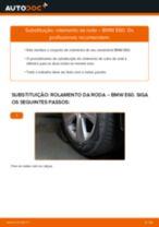 Como mudar rolamento da roda da parte traseira em BMW E60 - guia de substituição