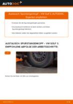 VW GOLF III (1H1) Spurstangenkopf: Schrittweises Handbuch im PDF-Format zum Wechsel