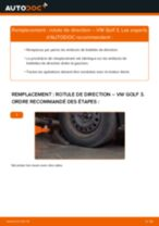 Tutoriel PDF étape par étape sur le changement de Rotule De Direction sur VW GOLF III (1H1)