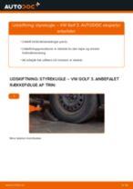 Udskift styrekugle - VW Golf 3   Brugeranvisning