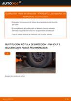 Cómo cambiar y ajustar Rótula barra de acoplamiento VW GOLF: tutorial pdf