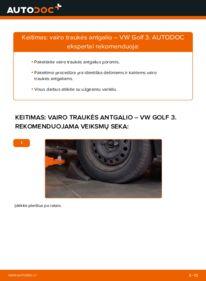 Kaip atlikti keitimą: 2.8 VR6 Golf 3 Skersinės vairo trauklės galas