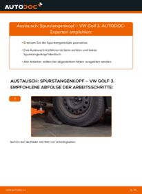 Wie der Wechsel ausgeführt wird: Spurstangenkopf beim VW GOLF
