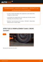 Notre guide PDF gratuit vous aidera à résoudre vos problèmes de VW VW Golf V 1.6 Amortisseurs