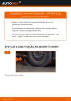 Como mudar molas de suspensão da parte dianteira em VW Golf 3 - guia de substituição