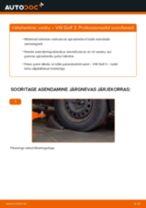 Samm-sammuline PDF-juhend Volvo XC70 Cross Country Kinnitus Sillatala asendamise kohta