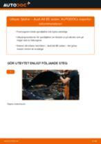 Hur byter man och justera Spiralfjädrar AUDI A4: pdf instruktioner