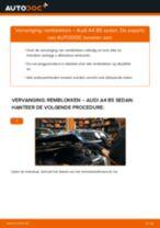 Hoe Remblokset veranderen en installeren AUDI A4: pdf handleiding
