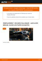 Comment changer : bougies d'allumage sur Audi A4 B5 berline - Guide de remplacement