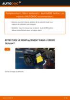 Comment changer : filtre à carburant sur Audi A4 B5 berline - Guide de remplacement