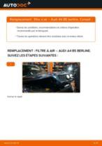 Comment changer : filtre à air sur Audi A4 B5 berline - Guide de remplacement