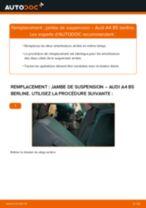 Comment changer : jambe de suspension arrière sur Audi A4 B5 berline - Guide de remplacement