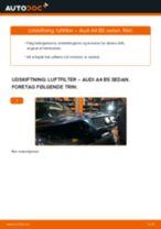 Udskift luftfilter - Audi A4 B5 sedan   Brugeranvisning