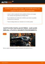 Cómo cambiar: pastillas de freno de la parte delantera - Audi A4 B5 berlina | Guía de sustitución