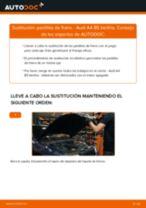 Instalación Cable de accionamiento freno de estacionamiento AUDI A4 (8D2, B5) - tutorial paso a paso