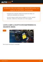 Cómo cambiar: filtro de combustible - Audi A4 B5 berlina | Guía de sustitución