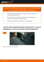 Cómo cambiar: amortiguador telescópico de la parte trasera - Audi A4 B5 berlina | Guía de sustitución