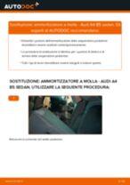 Come cambiare ammortizzatore a molla della parte posteriore su Audi A4 B5 sedan - Guida alla sostituzione