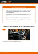 Changing Anti Roll Bar Bushes AUDI A4: workshop manual