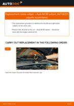 Replacing Brake caliper AUDI A4: free pdf