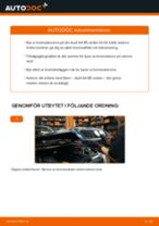 Byta bromsskivor fram på Audi A4 B5 sedan – utbytesguide