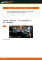 Byta luftfilter på Audi A4 B5 sedan – utbytesguide