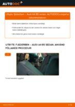 Byta fjäderben bak på Audi A4 B5 sedan – utbytesguide