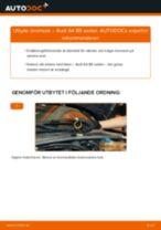 Byta bromsok bak på Audi A4 B5 sedan – utbytesguide