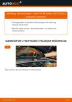 Slik bytter du bremsecaliper bak på en Audi A4 B5 sedan – veiledning