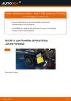 Kuinka vaihtaa polttoainesuodatin Audi A4 B5 sedan-autoon – vaihto-ohje