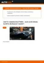 Kuinka vaihtaa ilmansuodattimen Audi A4 B5 sedan-autoon – vaihto-ohje