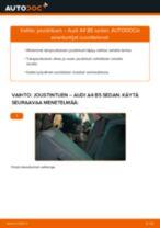 Kuinka vaihtaa joustintuki taakse Audi A4 B5 sedan-autoon – vaihto-ohje