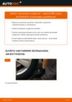 Kuinka vaihtaa vetonivelen suojakumi Audi A4 B5 sedan-autoon – vaihto-ohje
