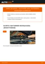 Kuinka vaihtaa jarrusatula taakse Audi A4 B5 sedan-autoon – vaihto-ohje