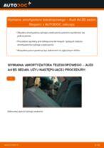 Jak wymienić i wyregulować Amortyzatory AUDI A4: poradnik pdf