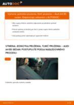 Výmena Tlmič pruzenia AUDI A4: dielenská príručka
