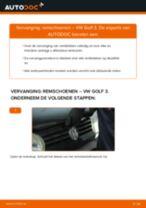 Hoe remschoenen achteraan vervangen bij een VW Golf 3 – vervangingshandleiding