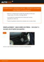 Remplacement Kit mâchoires de frein VW GOLF : instructions pdf