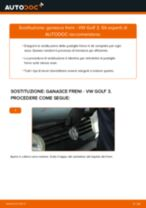 Cambio Ganasce dei freni istruzioni pdf per VW GOLF