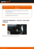 Montering Xenonlys VW GOLF III (1H1) - steg-for-steg manualer