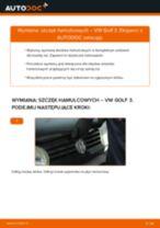Wymiana Szczęk hamulcowych do hamulców bębnowych: pdf instrukcje do VW GOLF