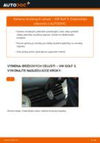 Ako vymeniť zadné brzdové čeluste na VW Golf 3 – návod na výmenu