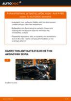 Πώς να αλλάξετε μετρητης μαζας αερα σε Audi A4 B5 sedan - Οδηγίες αντικατάστασης