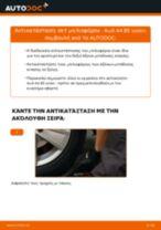 Πώς να αλλάξετε σετ μπιλιοφόρου σε Audi A4 B5 sedan - Οδηγίες αντικατάστασης