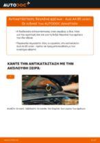 Πώς να αλλάξετε δαγκάνα φρένων πίσω σε Audi A4 B5 sedan - Οδηγίες αντικατάστασης