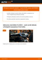 Kako zamenjati in prilagoditi Zavorne Ploščice AUDI A4: vodnik pdf